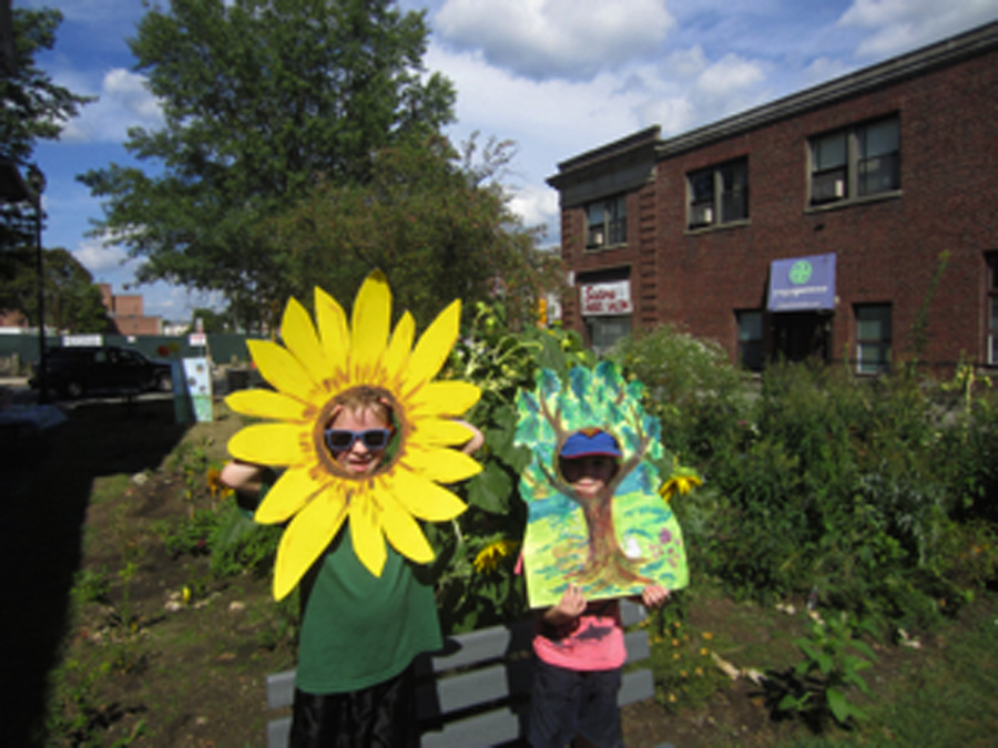 Kids in our flower and tree photos