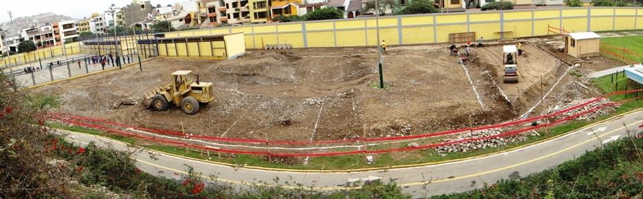 SKATEPARK SURCO LOMA AMARILLA EN CONSTRUCCIÓN -JULIO 2011