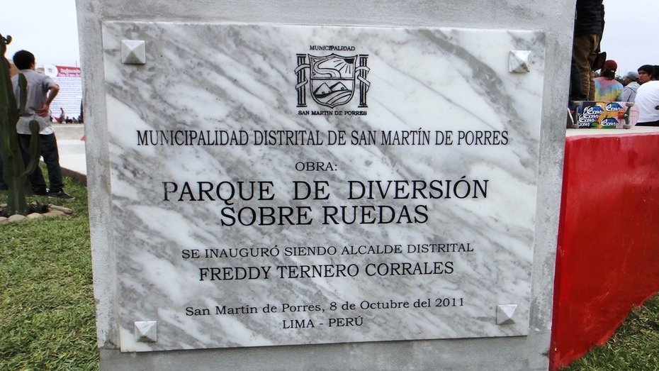 INAUGURACION SKATEPARK SAN MARTÍN DE PORRES