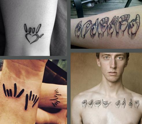 La langue des signes en tatouages