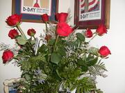 Celebratory dozen red roses