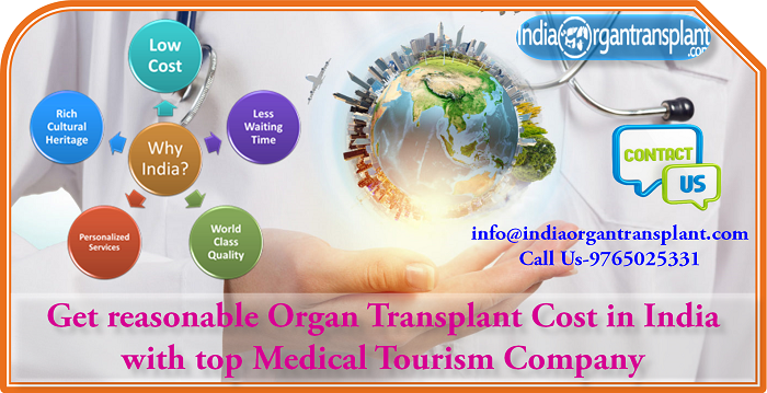 Get reasonable Organ Transplant Cost in India with top Medical Tourism Company
