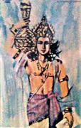Dhanvatari mit dem Nektar der Unsterblichkeit