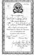 SOKE GRANDMASTER IRVING SOTO 10TH DEGREE BLACK BELT DIPLOMA RANK OF JUJITSU