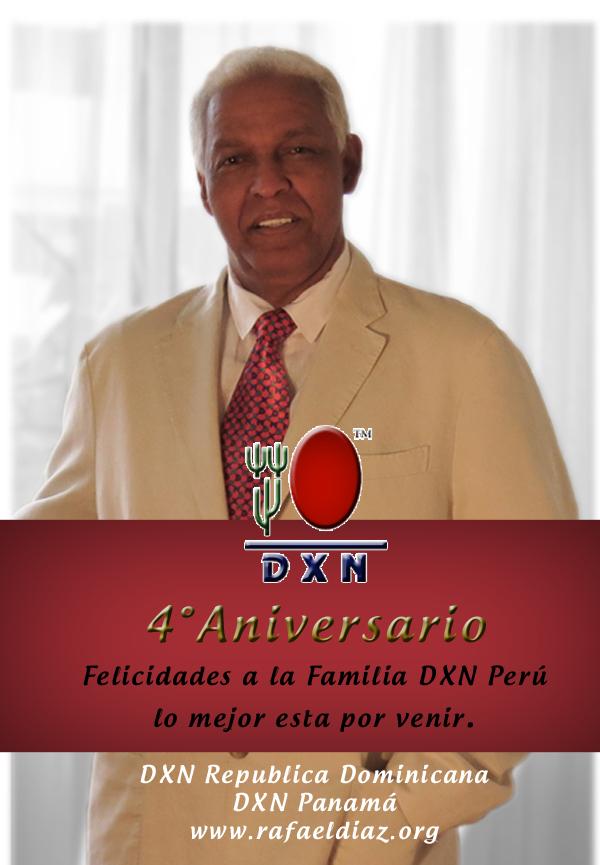Mil felicitaciones a la Gran familia DXN-PERU//POR SU 4TO ANIVERSARIO Y LO MEJOR ESTA POR LLEGAR