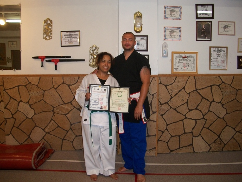 Johnellie Cobb first 1st. Degree Green Belt Exam