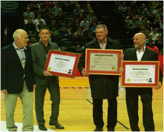 Prof.Dr.Safet Kapo,Tom Harinck of Nitherlands and Branko Cikatiae of Croatia
