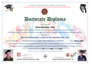 CERTIFICATE OF DOCTORACTE DIPLOMA