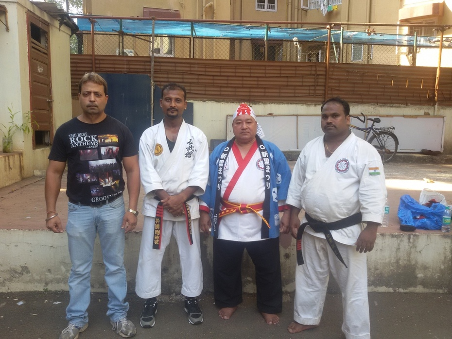G.M Soke Dr.Ravi Lalwani,Sensei Mayur Shukal,Soke Dr.Jagdish Singh,Shihan Raju More