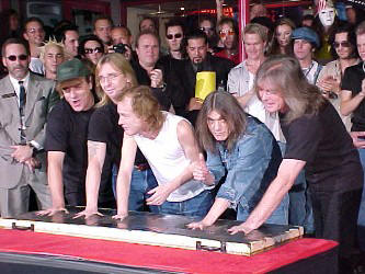 AC/DC honored on Hollywood Rock Walk