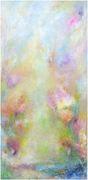 Summer Garden, Mischtechnik, H 100 x  B 50 cm, Leinwand auf Keilrahmen