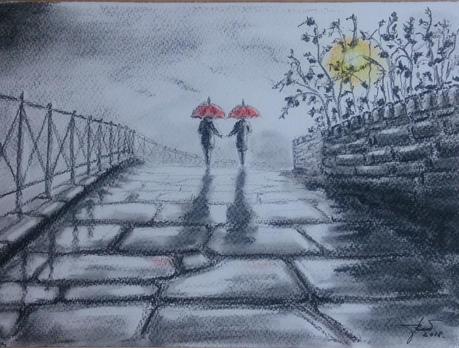 Ketten az esőben