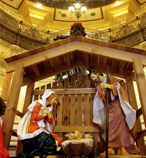 FIRST EVER INSIDE STATE CAPITOL NATIVITY SCENE