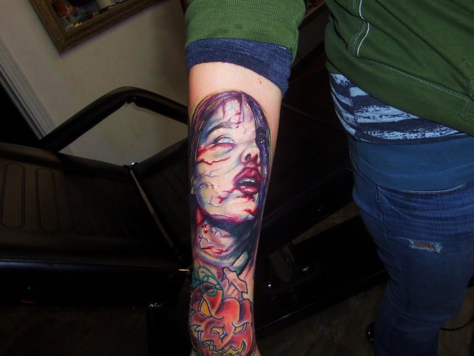 vampire tattoo Kevin Gordon, tattoos, Inkaholics, wingate N.C. 28174, 704-233-9383, inkaholicsnc.com kmgsucks@yahoo.com, union county