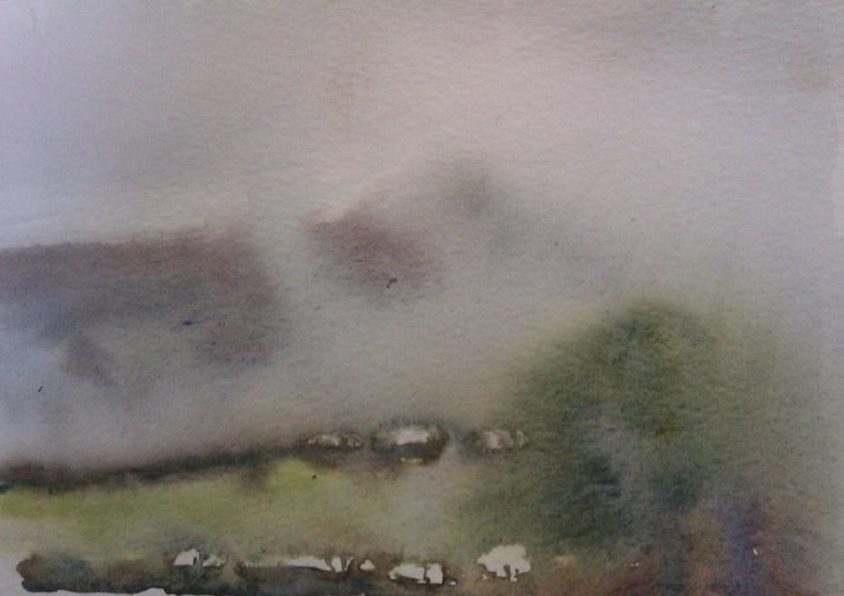 Rain over Brandon Hill