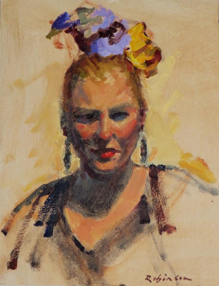 Portrait of Marit as Freda Kahlo
