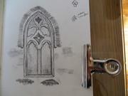 Window in Mellifont Abbey, Co. Louth