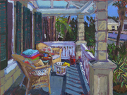 180102 Laundry, Coffee and Sunshine, 18x24, oil on canvas