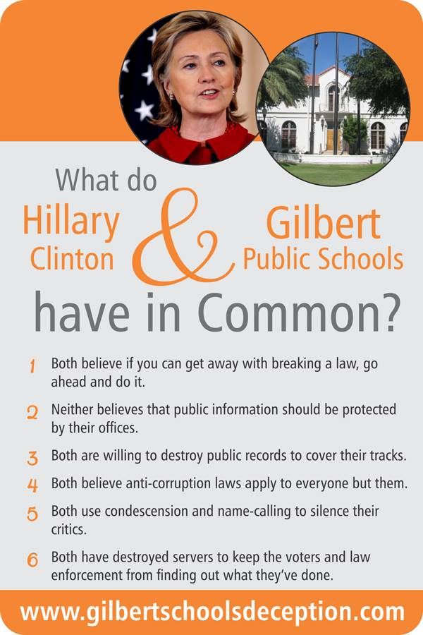 What Do Hillary Clinton And Gilbert Public Schools Have In Common?