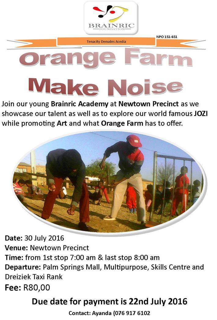 BR Orange Farm Make Noise Poster