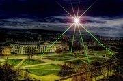 Pyramid of Light above Kassel, Germany 2012 Documenta 13