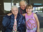 Cora with Papa and Great Granny Millie