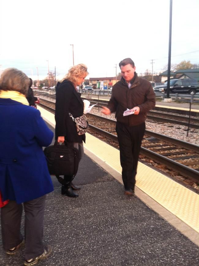 steve beaman at train station