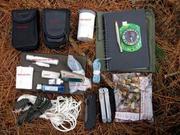 Bushcraft satchel contents