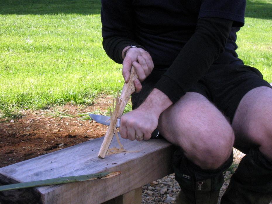 Making feathersticks