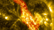 Solar Filament Eruption Creates Canyon of Fire