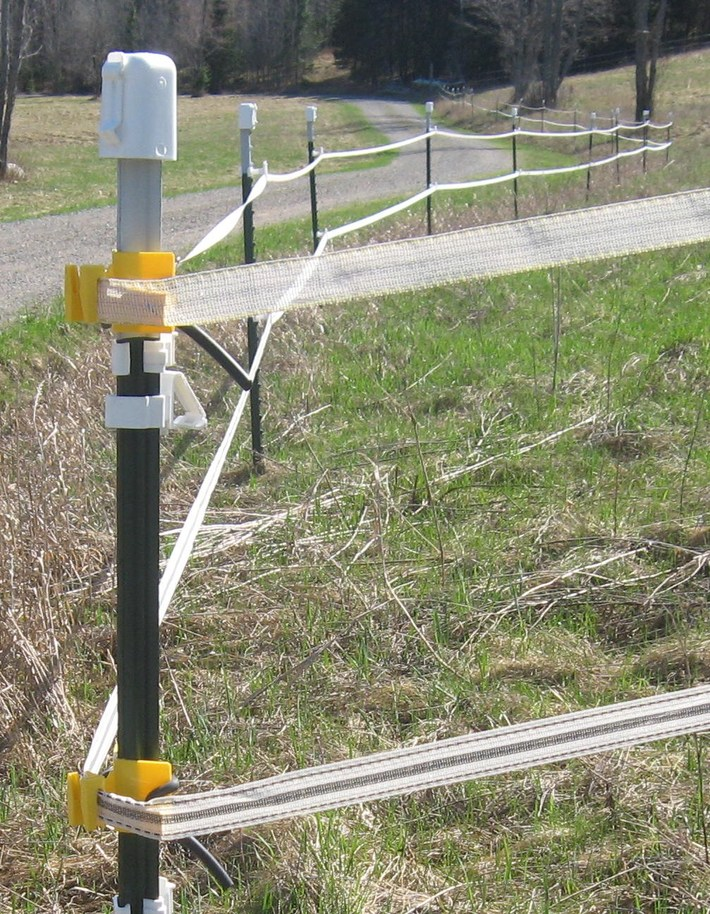 t-post corner and  fence line