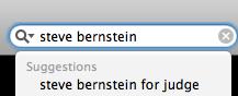 Disturbing Steve B search suggestion
