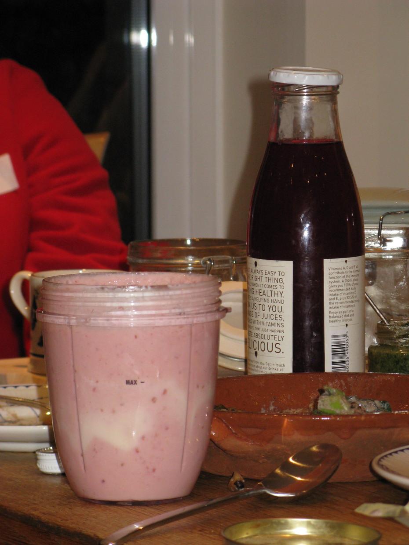 Beetroot kvass and raspberry kefir smoothie