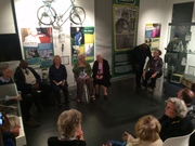 Participants and guests gathered for the official opening of the exhibition
