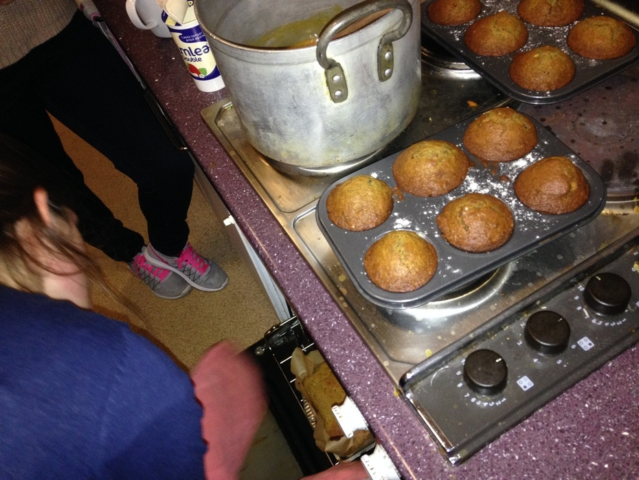 Mini sticky toffee puddings fresh out of the oven