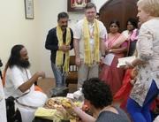 Sri Sri Ravi Shankar Ji Meets & Blesses The VedaPulse Team