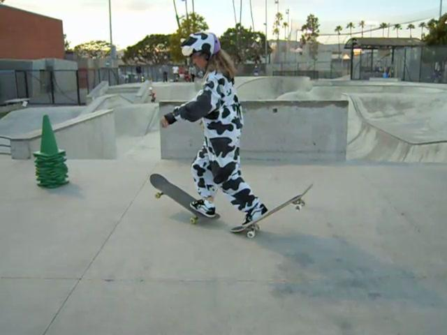 Skateboard Cow is rolling for reading!