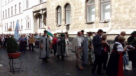Procession to the wine festival