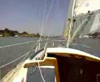 Toney and me sailing the Carquinez Strait