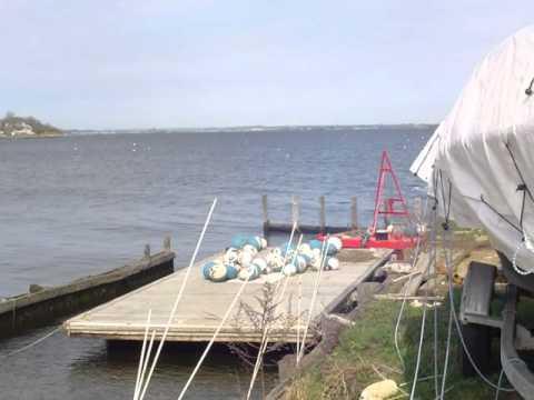 Keyport Harbor setting mooring balls