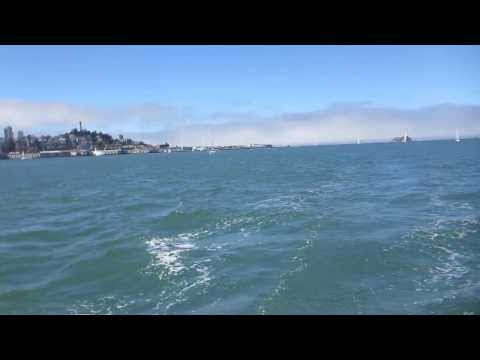 Sailing during the AC-72 practices in San Francisco Bay