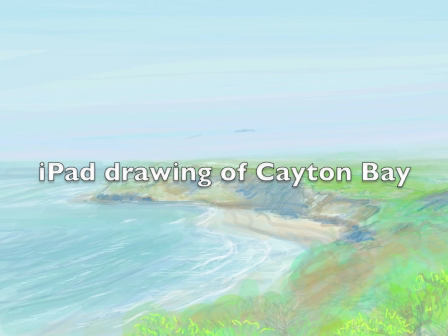 iPad painting of Cayton Bay from Knipe Point, Scarborough, 27th April 2011