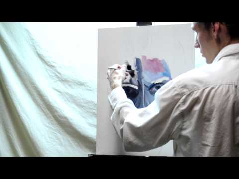 Self Portrait - Oil Painting time lapse