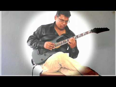 solo jazz guitarist ujjal in an experimental sound