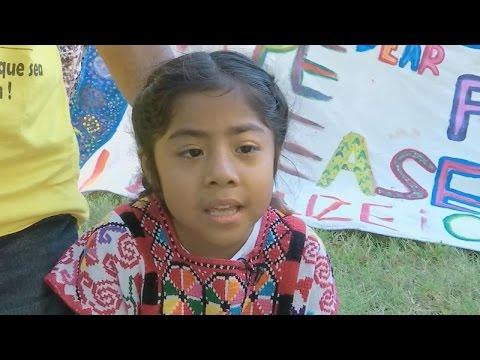 Mensaje que la niña Sophie Cruz le entregó al Papa Francisco