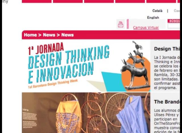 1a Jornada Design Thinking Elisava / Barcelona Design Thinking Week
