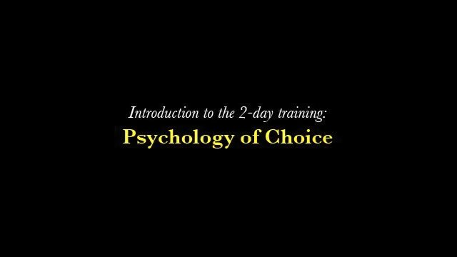 Psychology of Choice