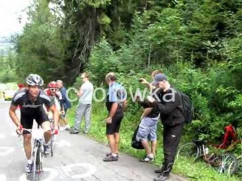 Tour de Pologne amatorów 2012 - podjazd pod Gliczarów 23% nachylenia!