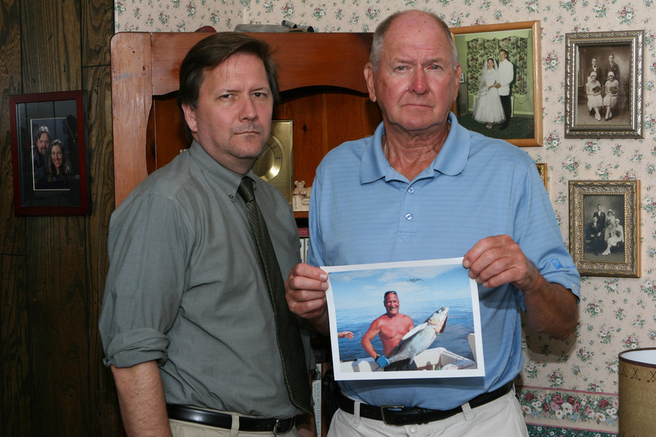 Jeff & Pop With Picture of Joe