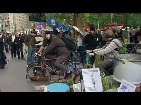 Ocupar Wall Street a pedalar